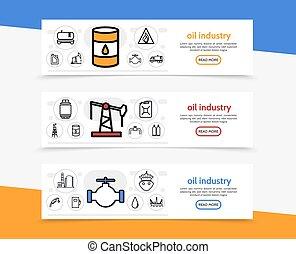 bannières horizontales, industrie pétrolière