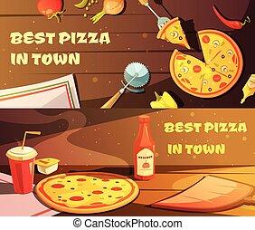bannières horizontales, mieux, pizza