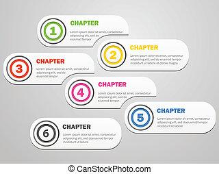 bannières, infographics, conception, icônes