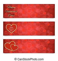 bannières, jour, valentine