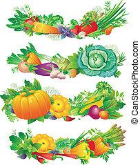 bannières, légumes