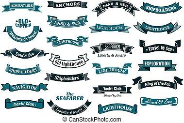 bannières, nautique, themed