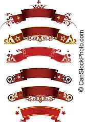 bannières, rouges