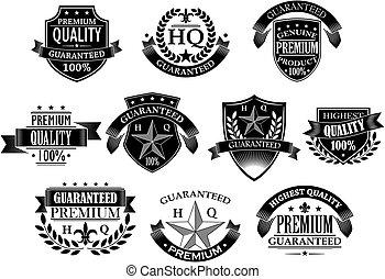 bannières, vente au détail, conception, insignes