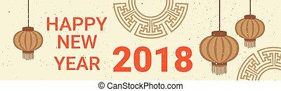 bannner, κινέζα , διακόσμηση , φακός , 2018, έτος , ...