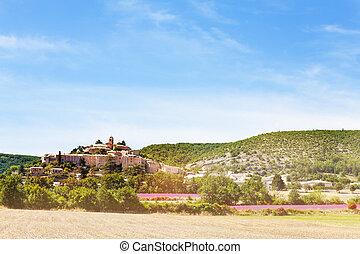 banon, alpes-de-haute-provence, vilage, frankreich