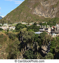 Banos, Ecuador - Some houses of the small town of Banos in...