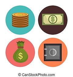 banque argent, économies, économie globale