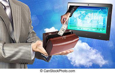 banque, commerces, électronique