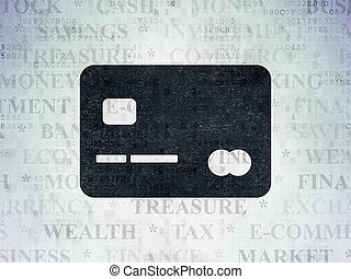 banque, concept:, carte de débit, sur, numérique, données, papier, fond