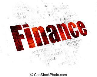 banque, concept:, finance, fond, numérique
