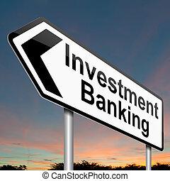 banque, concept., investissement