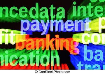 banque, concept, paiement