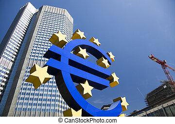 banque, européen, central