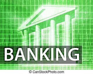 banque, illustration