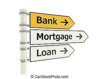 banque, panneaux signalisations