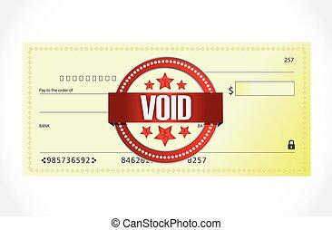 banque, vide, conception, chèque, illustration