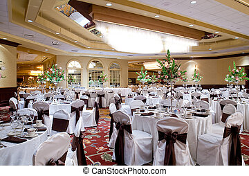 Banquet hall - A banquet hall or other function facility set...