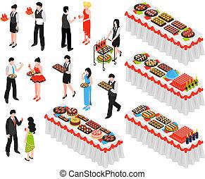 Banquet Isometric Elements Set