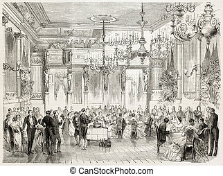 French Embassy - Banquet offered to Count and Countess De...