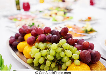 Banquet - fruit platter on a banquet table