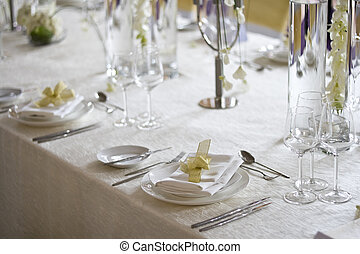 banquet table - Banquet table setting for wedding in china...