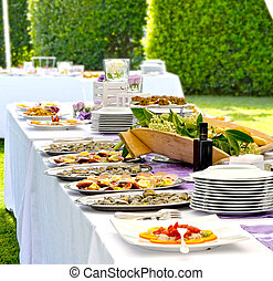 Banquet - Wedding - Banquet with delicious fresh dishes