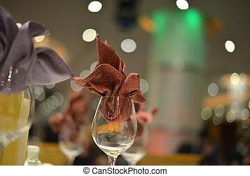Banquet wedding table setting