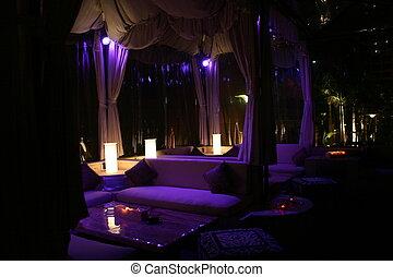 banquete, función, salón