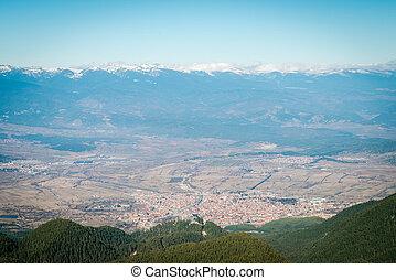 Bansko, Bulgaria from the mountains