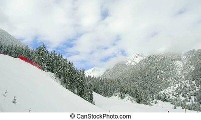 Bansko Mountain Pirin - Bulgaria. Bansko.11 March. Ski slope...