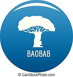 baobab kopyto, ikona, konzervativní, vektor