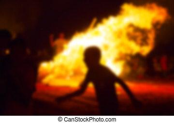 baomer, israel., お祝い, 抽象的, 遅れ, たき火, バックグラウンド。, ぼやけ