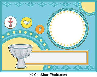 Baptism Invitation - Baptismal Invitation Illustration...