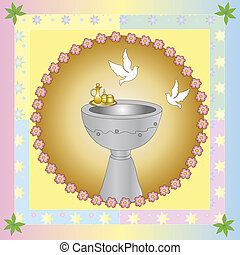 baptism - Symbolic illustration for the baptism