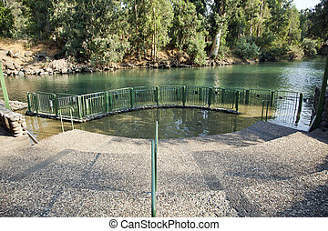 baptismal, site, jordanie, rivière