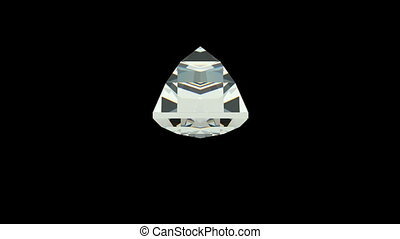Baquette cut diamond with alpha channel (seamless)