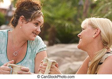 barátnő, beszélgetés