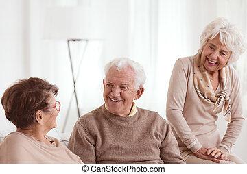 barátok, alatt, öregek otthona