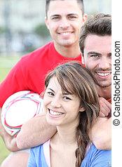 barátok, játék futball