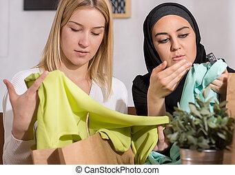 barátok, után, bevásárlás