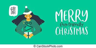 barátságos, eco, tehetség, fa, birtok, sóvárog, karácsony, leány