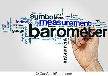 barómetro, palabra, nube