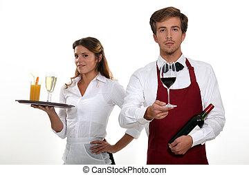 Bar and barmaid