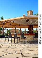 Bar at the beach of luxury hotel, Sharm el Sheikh, Egypt