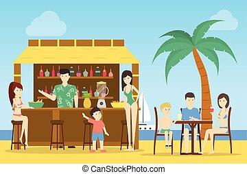 Bar at the beach.