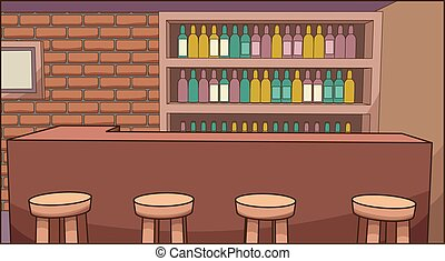 Bar background - Cartoon bar background. Vector clip art...