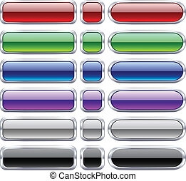 Bar blank buttons. - Blank web bar buttons. Vector.