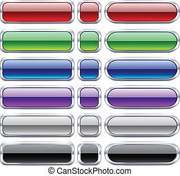 Bar blank buttons. - Blank web bar buttons. Vector.