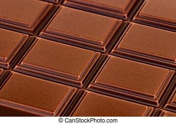 bar, bovenzijde, textuur, chocoladekleurig melk, aanzicht